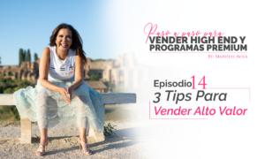 3 Tips Para Vender Alto Valor